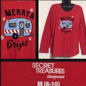 ❌5 for $10❌ Secret Treasures Christmas Shirt Sz M